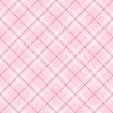 浅粉红色的格子花呢披肩 免版税库存照片