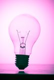 浅粉红色的电灯泡 库存图片