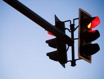浅红色的traffice 库存照片
