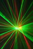 浅红色anf绿色的激光 免版税库存图片