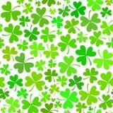 浅绿色的无缝的三叶草模式 免版税库存照片