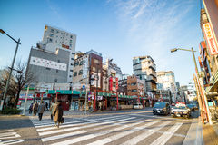 浅草区看法在东京,日本 免版税库存照片