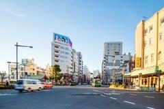 浅草区看法在东京,日本 免版税图库摄影
