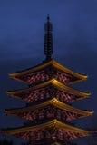 浅草塔Senso籍在东京,日本 免版税图库摄影