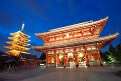 浅草寺庙在东京日本 免版税库存照片