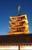 浅草寺庙在东京日本 库存照片