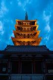 浅草寺庙在东京,日本 免版税库存照片