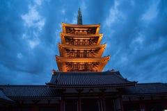 浅草寺庙在东京,日本 库存图片