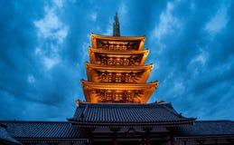 浅草寺庙在东京,日本 库存照片