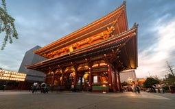 浅草寺庙在浅草,东京,日本 免版税库存照片