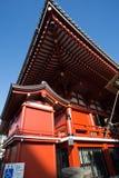 浅草Kannon寺庙屋顶细节 库存照片