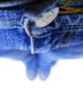 浅蓝色dof的牛仔裤 库存照片