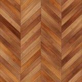 浅褐色无缝的木木条地板纹理的V形臂章 库存照片