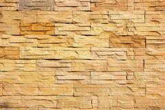 浅褐色的石墙纹理 免版税库存图片