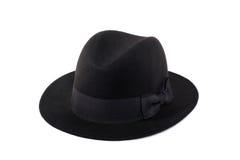 浅顶软呢帽帽子夫人 免版税图库摄影
