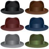 浅顶软呢帽帽子 库存照片
