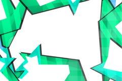 浅绿色的几何形状,抽象背景 免版税库存照片