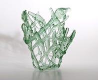 浅绿色的花瓶 图库摄影