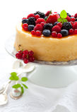 浆果乳酪蛋糕 图库摄影