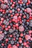 浆果关闭混合的冷冻果子  免版税库存照片