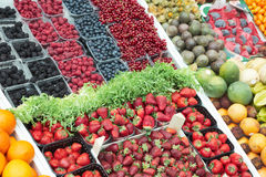 浆果多种市场停转 库存照片