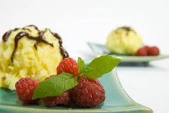浆果奶油色冰 库存图片