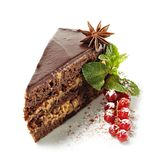 浆果巧克力点心新鲜的饼 免版税库存照片