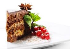 浆果巧克力点心新鲜的饼 免版税库存图片