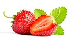 浆果新鲜的红色草莓甜点 库存图片