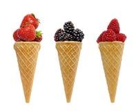 浆果概念奶油果子冰 免版税库存图片