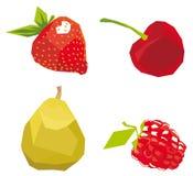 浆果立体派被画的样式 免版税库存照片