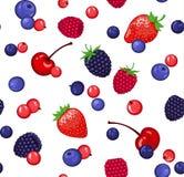 浆果仿造无缝 库存图片