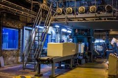 黏浆状物质和纸磨房在欧洲 图库摄影