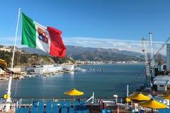 浇灌口岸和沿海萨沃纳,意大利区域  免版税库存图片