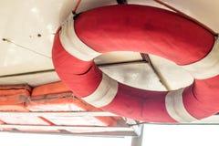 浇灌救援设备或水圆环抢救和Lifebuoy 免版税库存照片