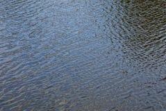 浇灌水体的表面上的纹理与波浪的 免版税库存照片