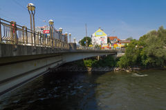 浇灌流动从Mur河到多瑙河 库存图片