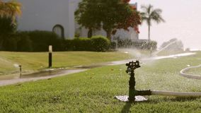 浇灌的喷灌系统 r 影视素材