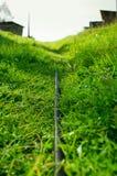 浇灌的水管 免版税库存照片