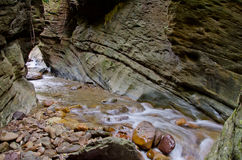 浇灌秋天Wang Sila laeng,大峡谷Wang Sila laeng, Pua区,南,泰国 免版税库存照片