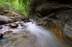 浇灌秋天Wang Sila laeng,大峡谷Wang Sila laeng, Pua区,南,泰国 库存照片
