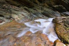 浇灌秋天Wang Sila laeng,大峡谷Wang Sila laeng, Pua区,南,泰国 免版税库存图片
