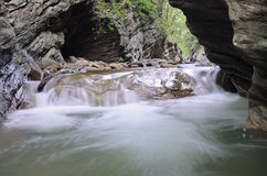 浇灌秋天Wang Sila laeng,大峡谷Wang Sila laeng, Pua区,南,泰国 免版税图库摄影