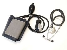 测压器医疗听诊器 图库摄影