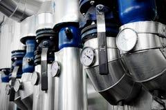 测压器和热化管道 图库摄影