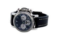 测时器富有的银色手表 库存照片