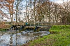 测流堰在荷兰河 免版税图库摄影