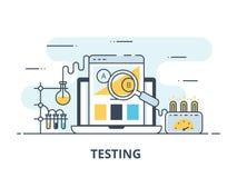 测试平的象的软件 软件测试传染媒介例证 平的设计 软件测试成功 皇族释放例证