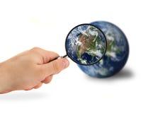 测试我们的世界 免版税库存照片