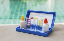 水质测试测试成套工具 库存图片